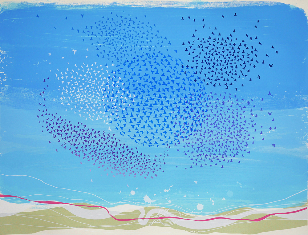Morning Murmuration   screenprint   61 x 80cm  £600 (unframed)