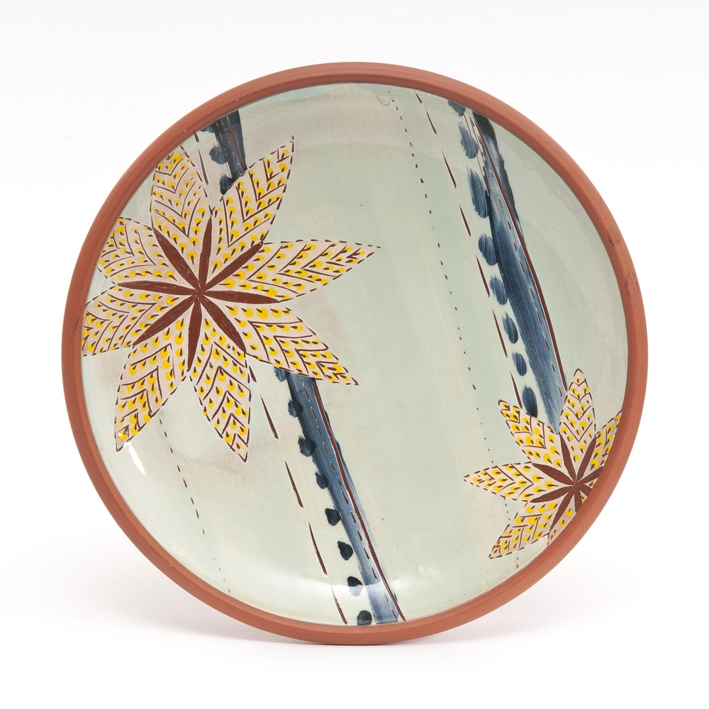 Plate  earthenware