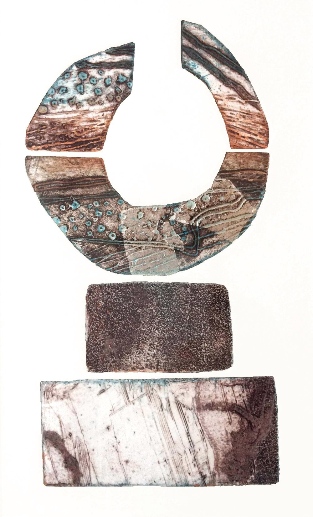 Megalithic 1 collagraph