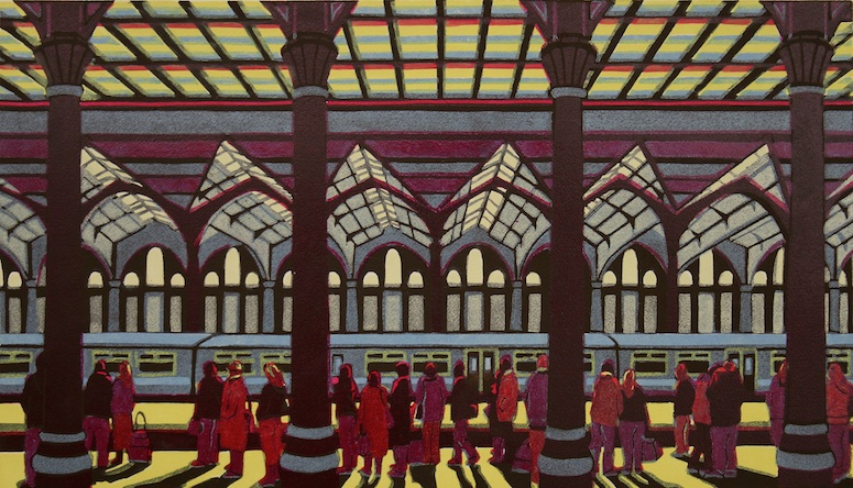 Home Before Dark linocut 40 x 70 cm £440.00 (unframed)