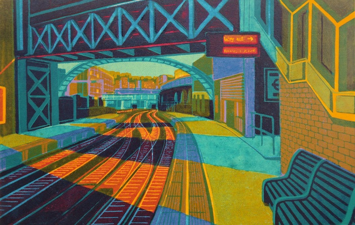 First Light at Farringdon linocut 40 x 60 cm £440.00 (unframed)