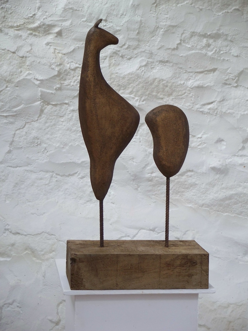 Guanaco painted stoneware on wood base 40 x 75cm £660