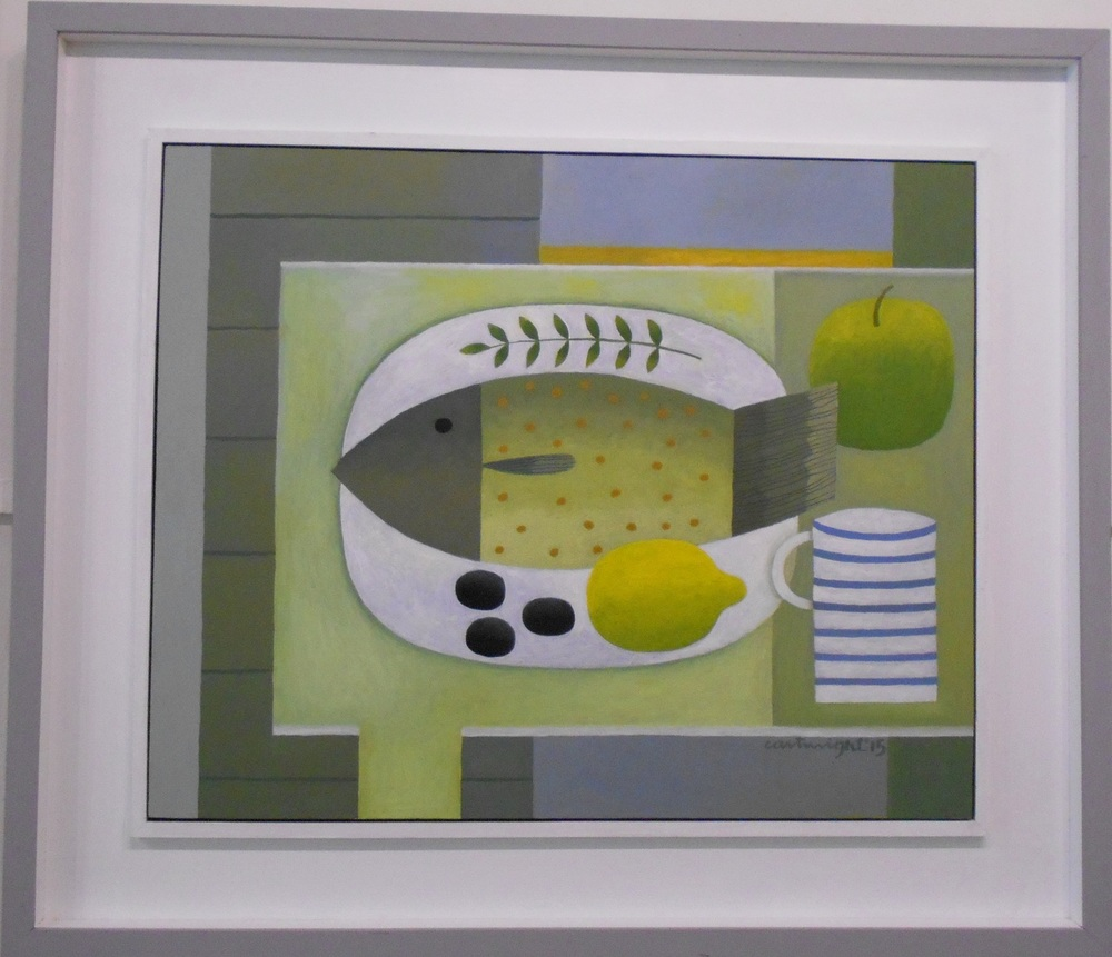 Still Life with Fish and Striped Mug No. 2   oil on board   56 x 45 cm  SOLD