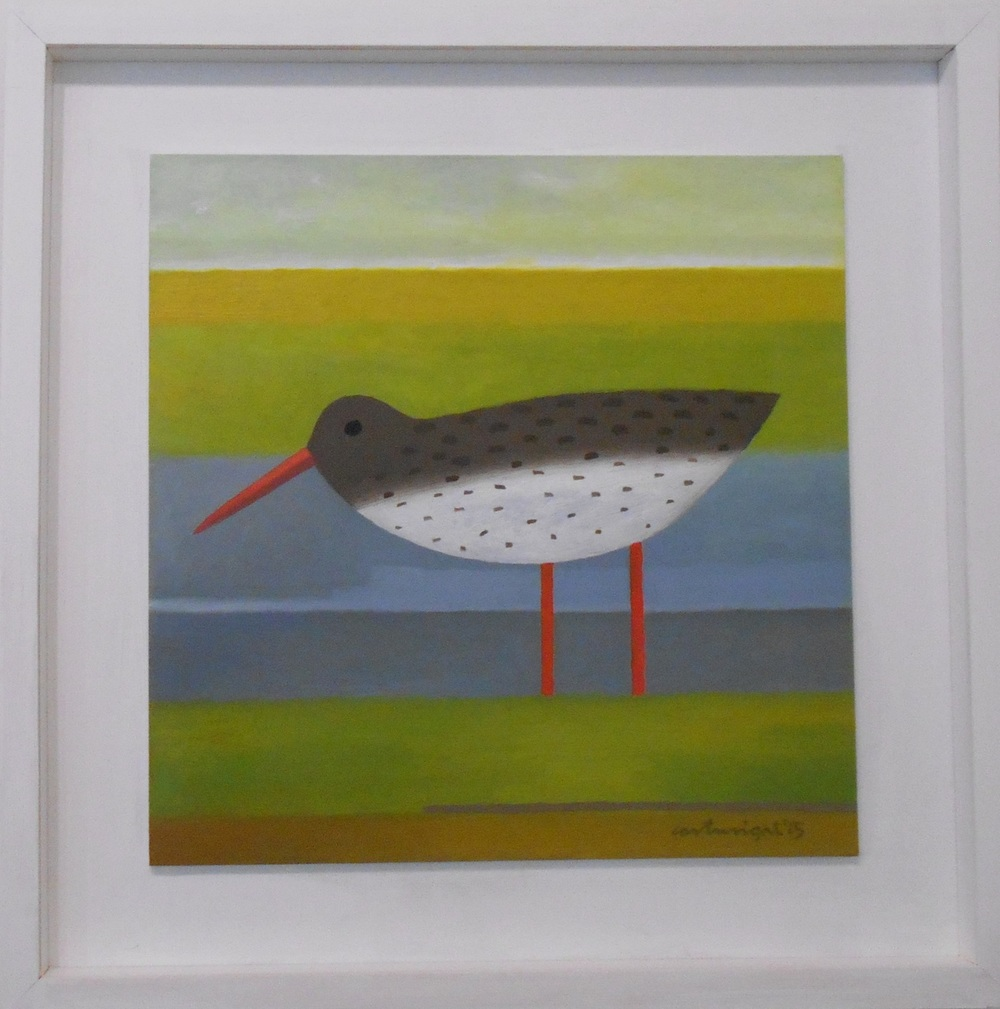Redshank oil on board 35 x 35 cm £950