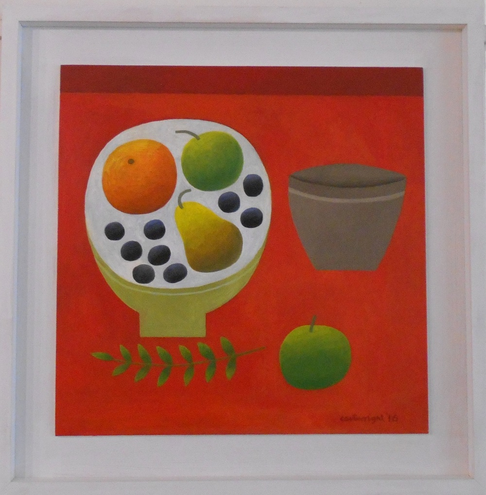 Red Still Life   oil on board   45 x 45 cm  SOLD