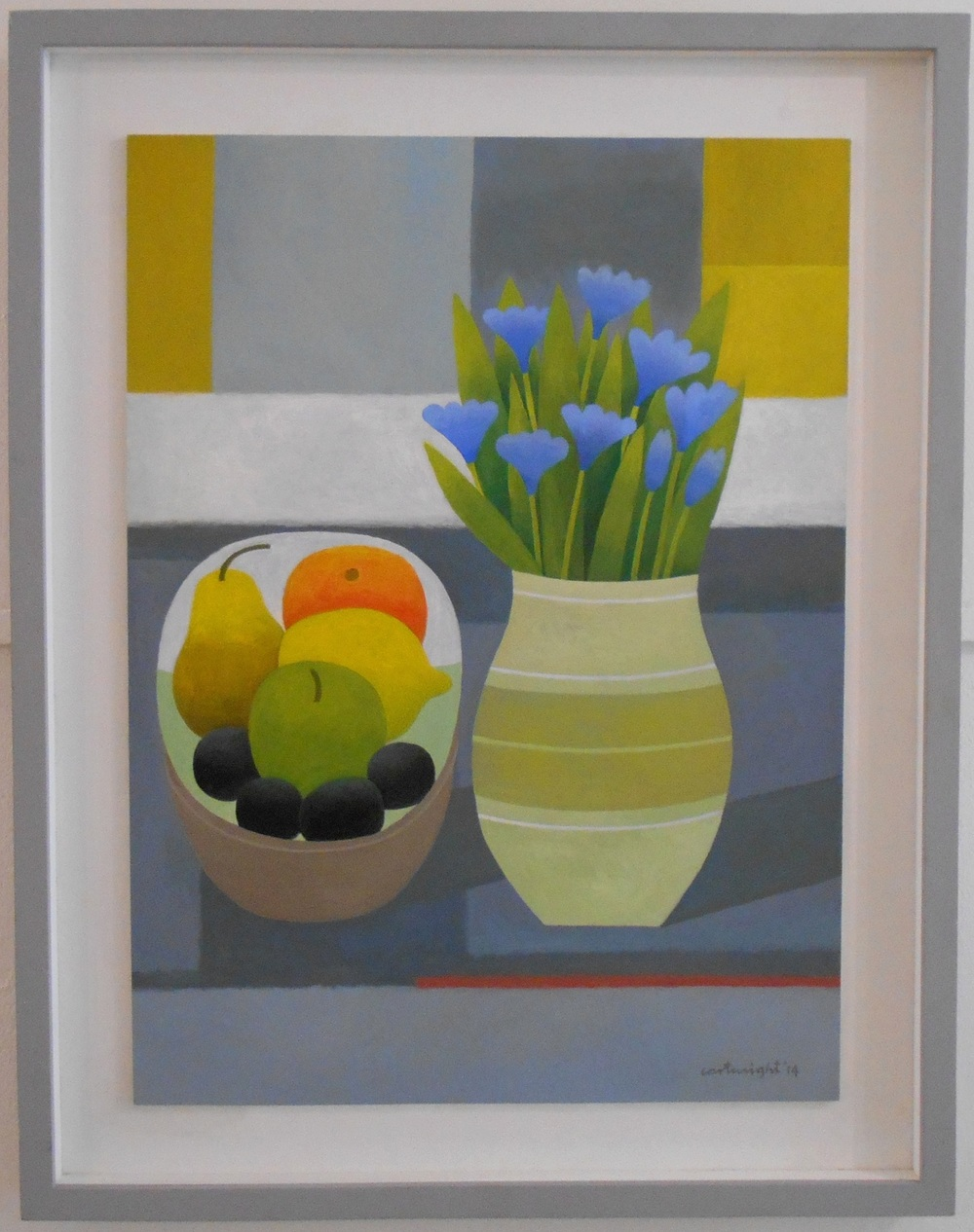 Still Life with Blue Flowers   oil on board   46 x 63 cm  SOLD