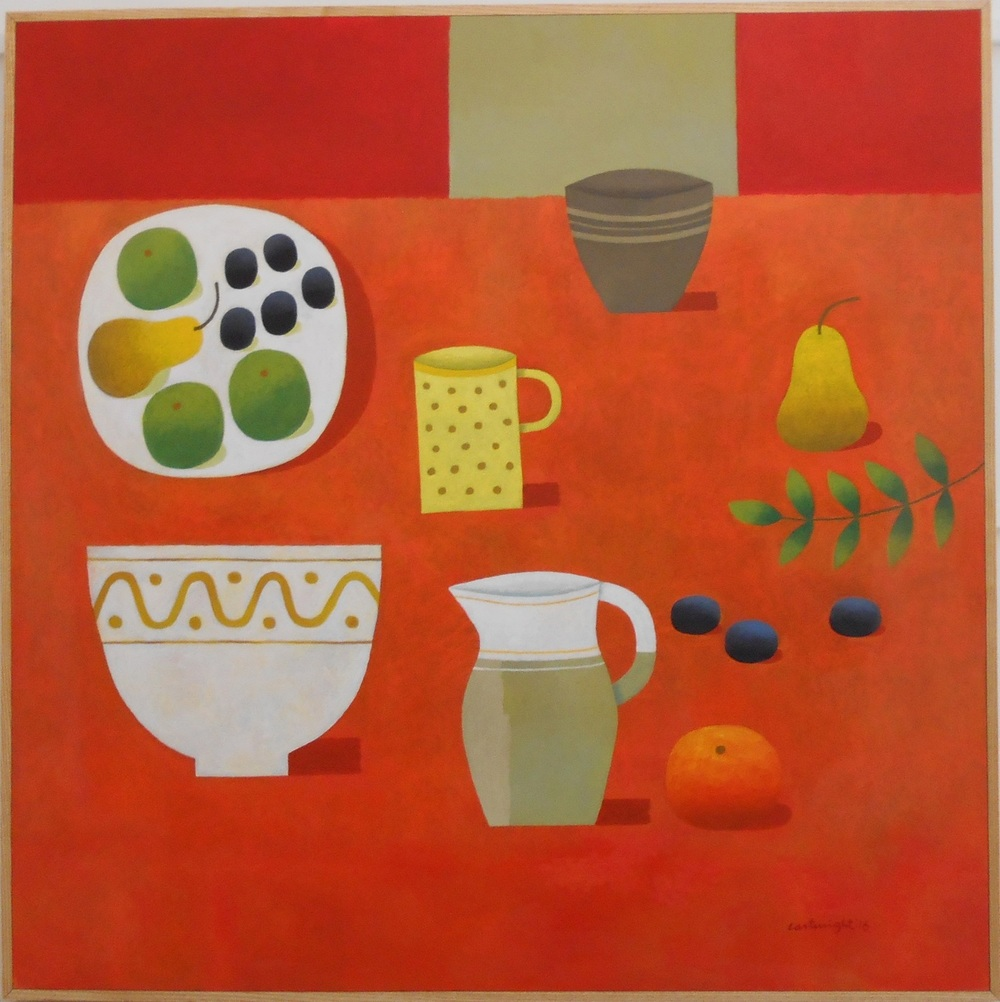 Red Still Life No. 2   oil on board   91 x 91 cm  SOLD