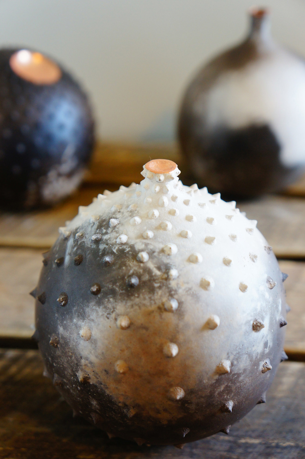 Mini Sphere Spiky Trio ceramic