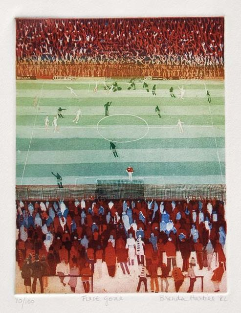 First Goal aquatint rare