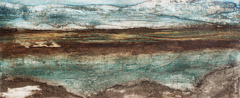 Marshlands collagraph 22 x 52 cm £220