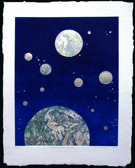 Heavenly Bodies Earthrise paper 99x71cm, image 76x56cm