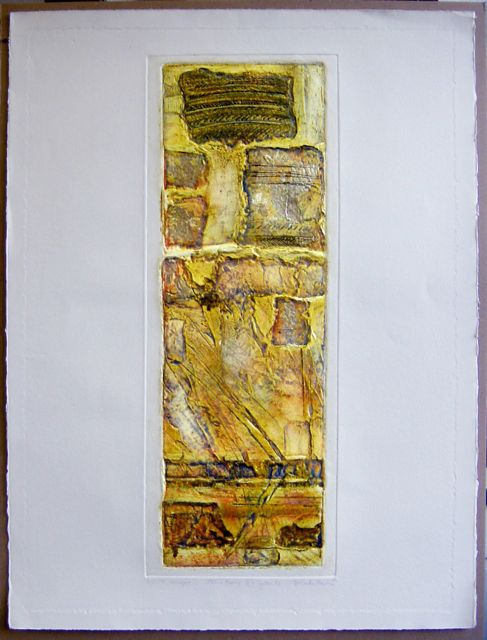Variations Granite paper 76x56cm, image 63x23cm, framed 83x64cm rare