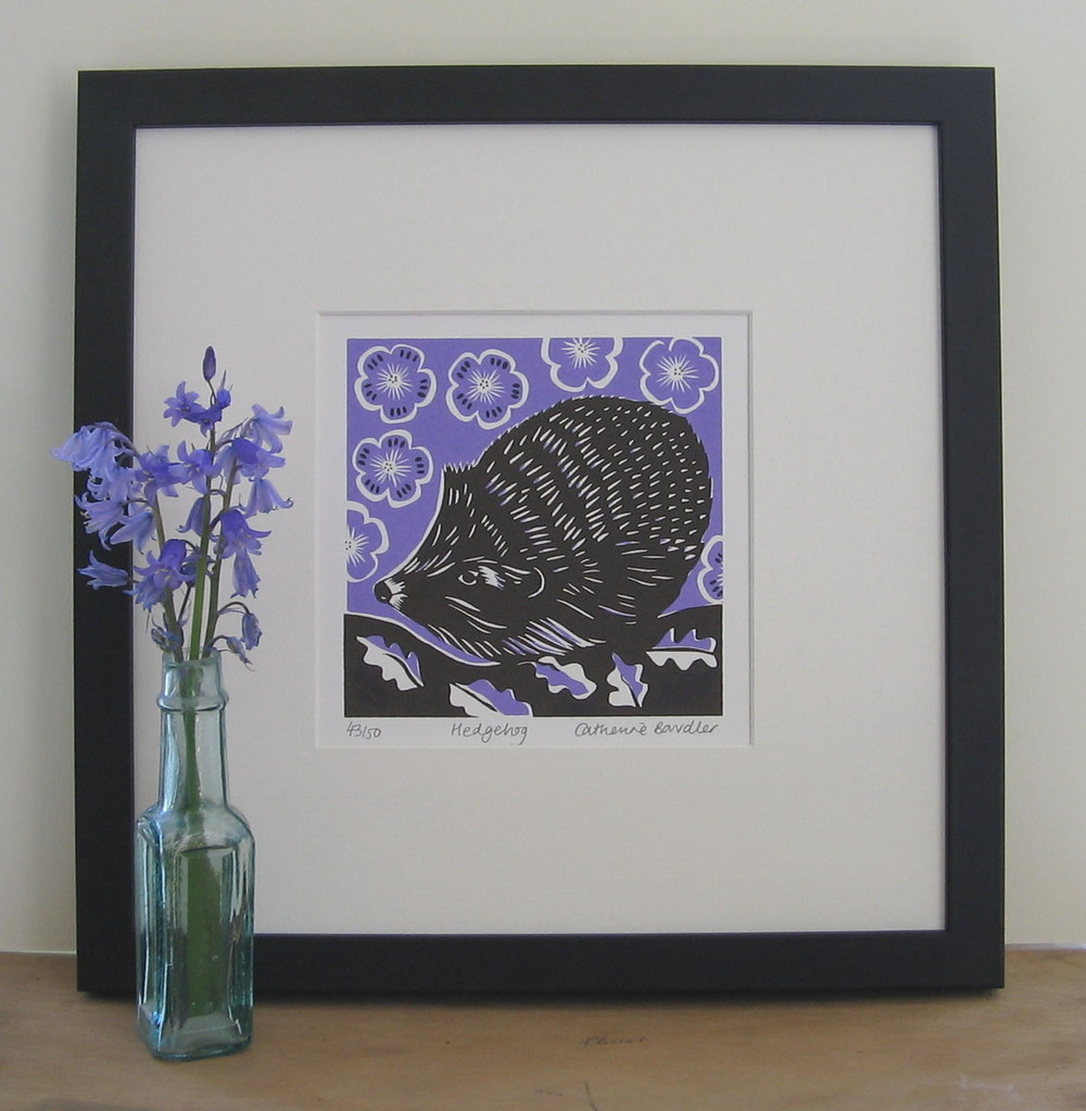 Hedgehog   screenprint   13 x 13 cm  £20 (unframed)