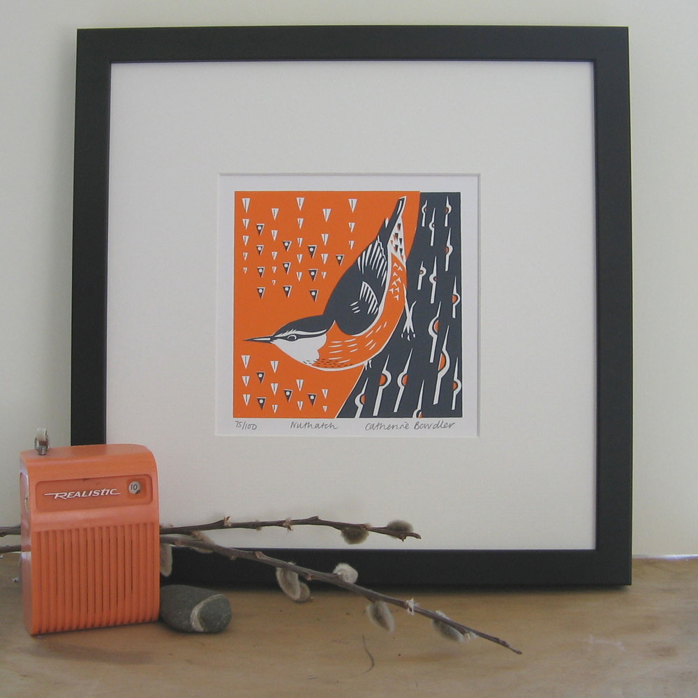 Nuthatch screenprint 13 x 13 cm £20 (unframed)