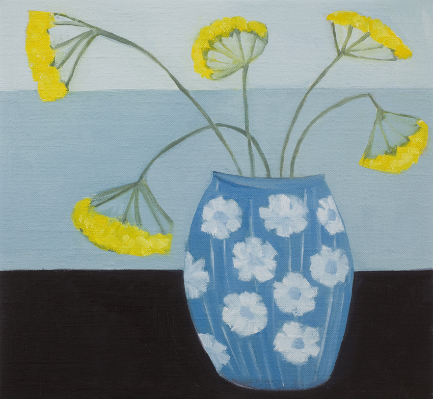 'Yellows by the Sea  oil on linen  28 x 28cm  £395
