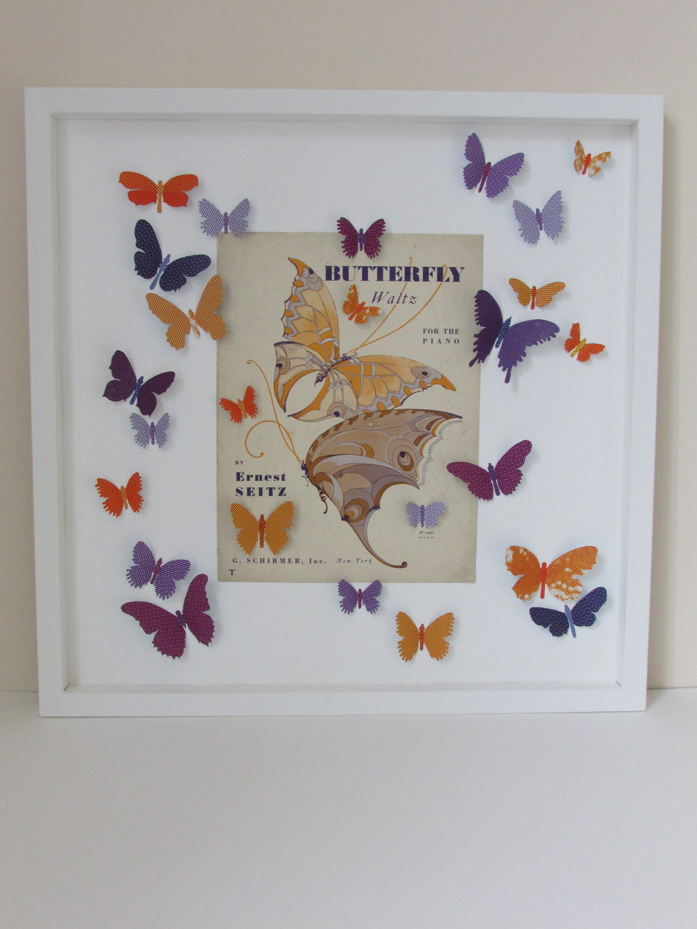 Butterfly Waltz  mixed media  53 x 53 cm  £660