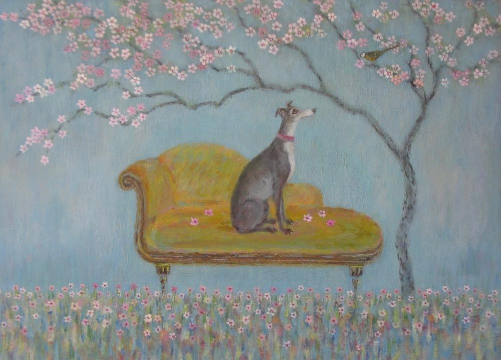 Blossom 38 x 29 cm acrylic on board £695