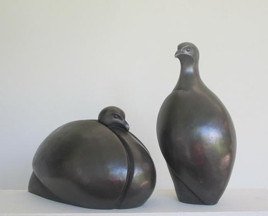 Pair of Partridges cold cast pewter £255