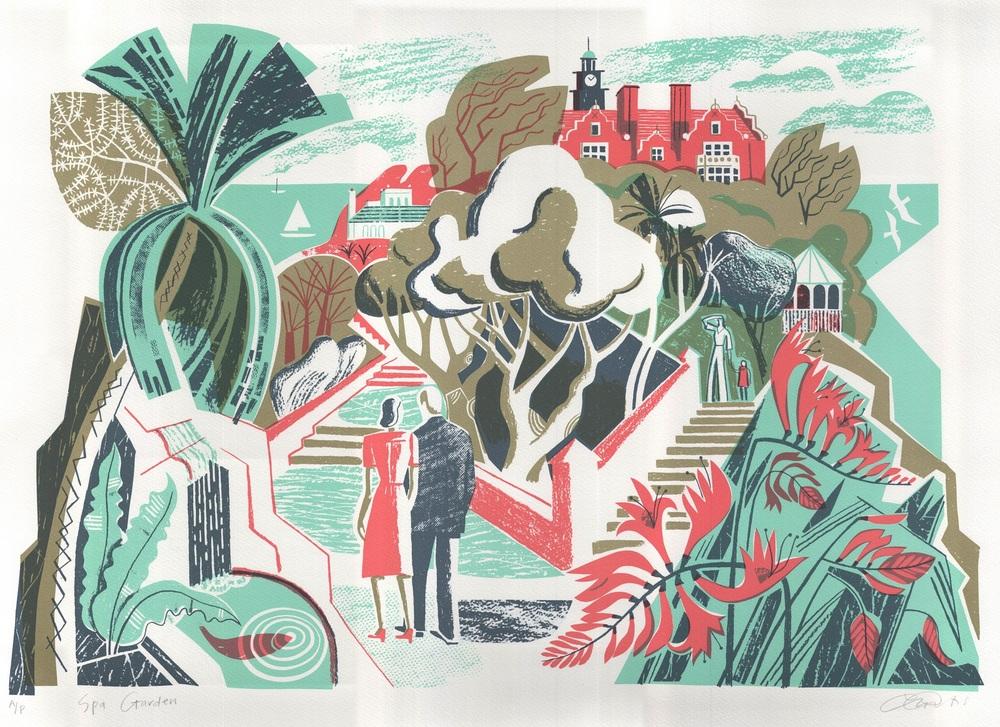 Clare Curtis   Spa Garden  lithograph  £230