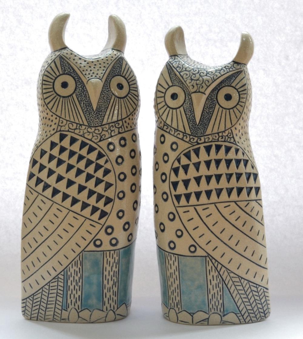Lorraine Izon   Long Eared Owl  ceramic  £155