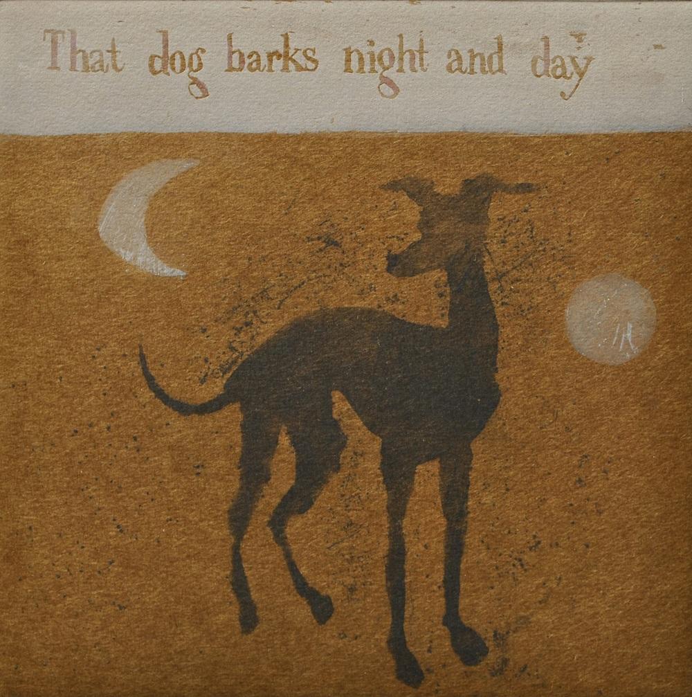 Mychael Barratt   Cole Porter's Dog  etching  £170