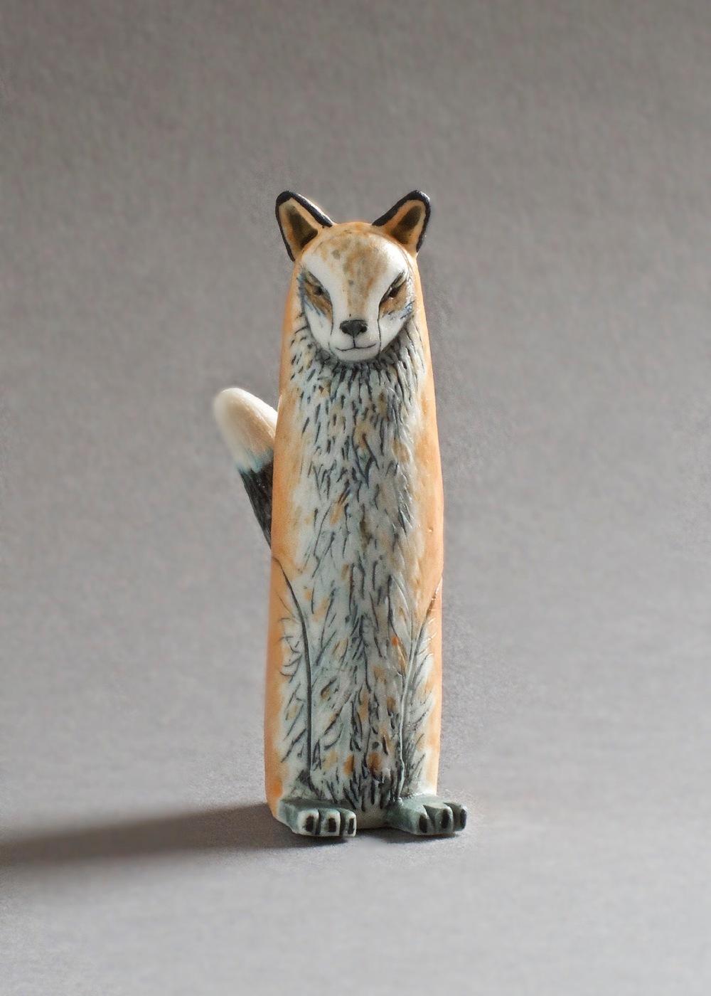 Marina Bauguil   Red Fox Spirit  porcelain  £95