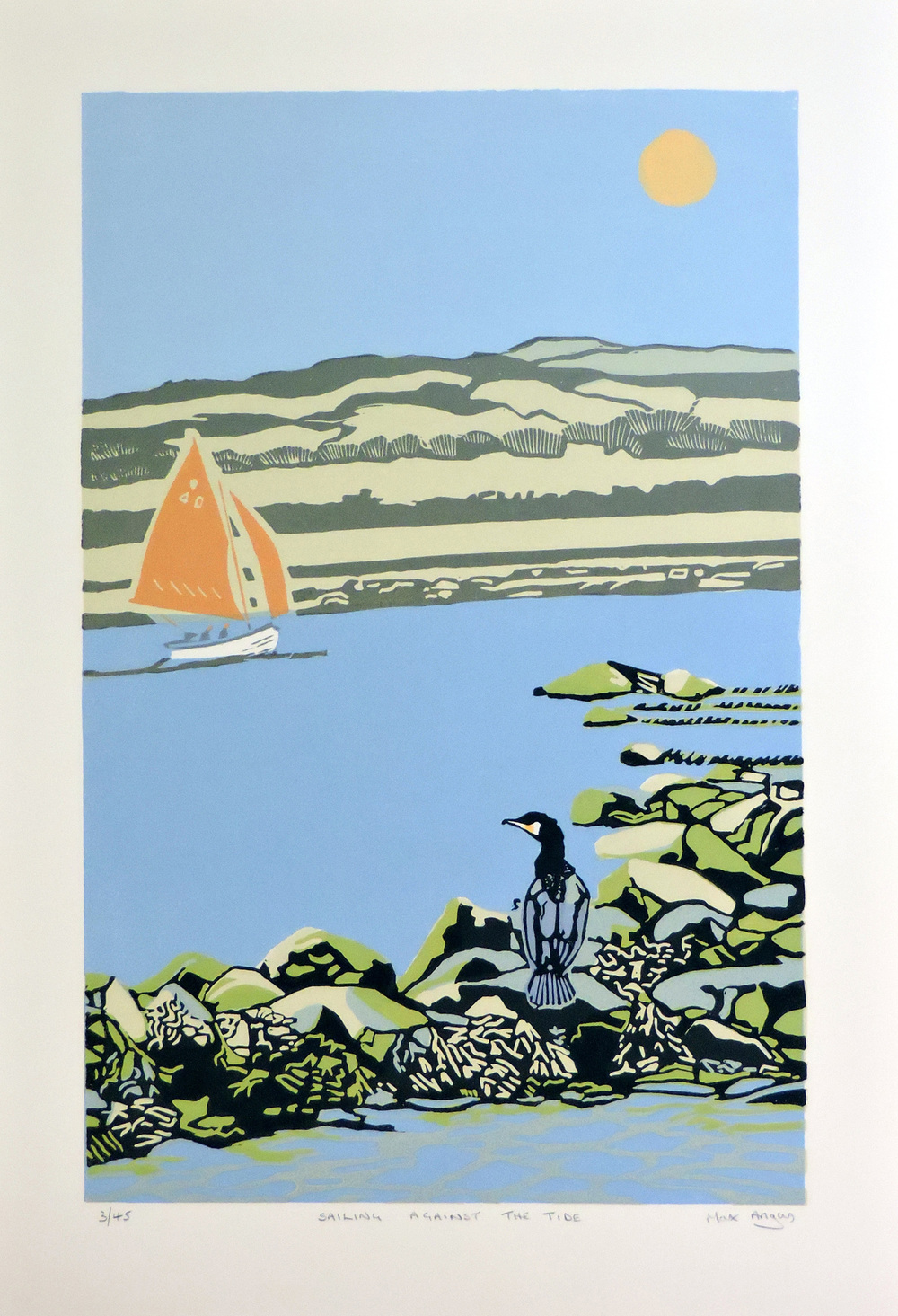 Max Angus Sailing Against the Tide linocut £235