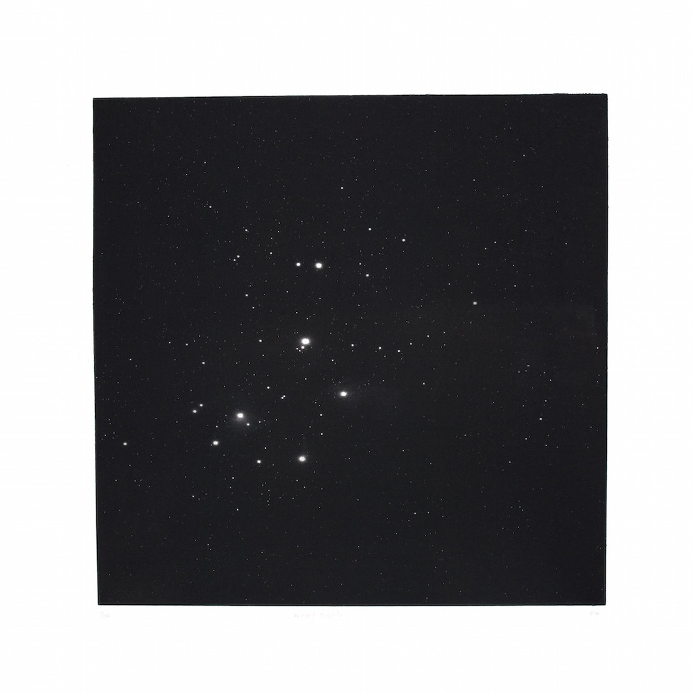 Beyond Pleiades   etching   54 x 54 cm  £320  unframed