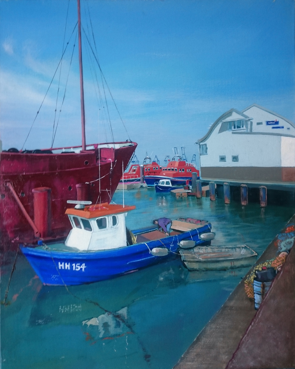 Harwich 13 50 x 40 cm oil on canvas £650