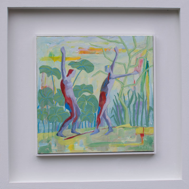 Lets Dance acrylic on board 49 x 49 cm framed £495