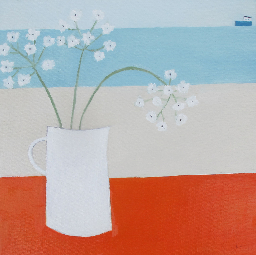 White Jug oil on linen 28cm x 28cm SOLD