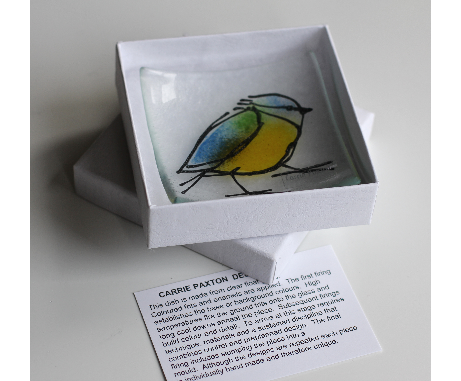 Wee Blue Tit Dish glass £14