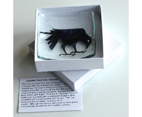 Wee Crow Dish glass £14