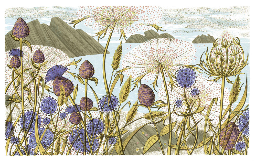 Angie Lewin   Island Summer  screenprint