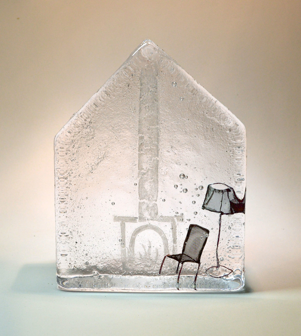 Cosy House with Chair and Lamp Glass & Wire 15 x 3.5 x 11 cm £295