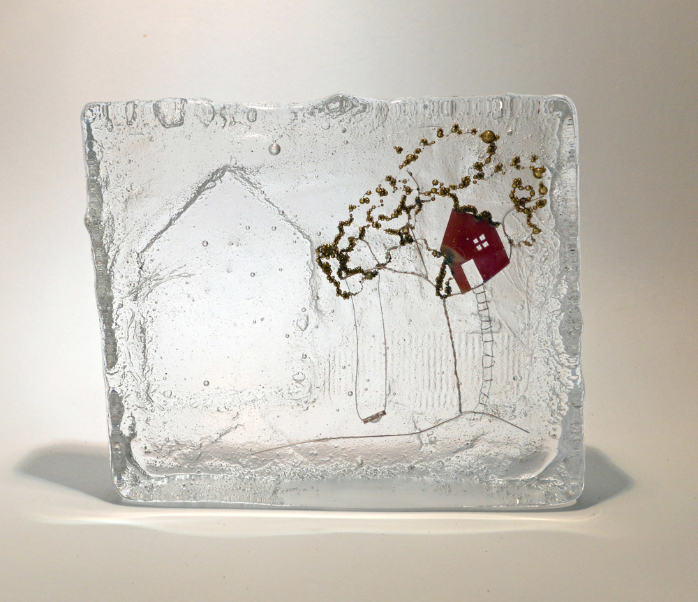Grandad's Tree House   Glass & Wire   15 x 3.5 x 18 cm 1.58kg  £295