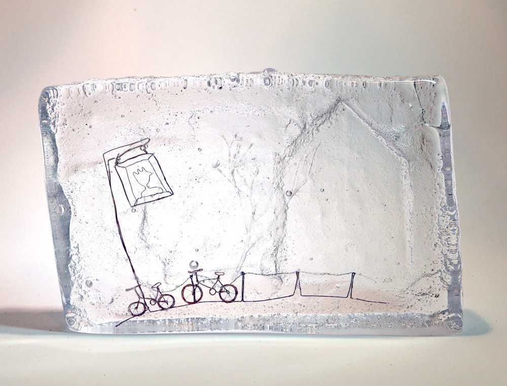 British Bicycle Ride Glass & Wire 12.5 x 20 x 3 cm 1.3kg £295