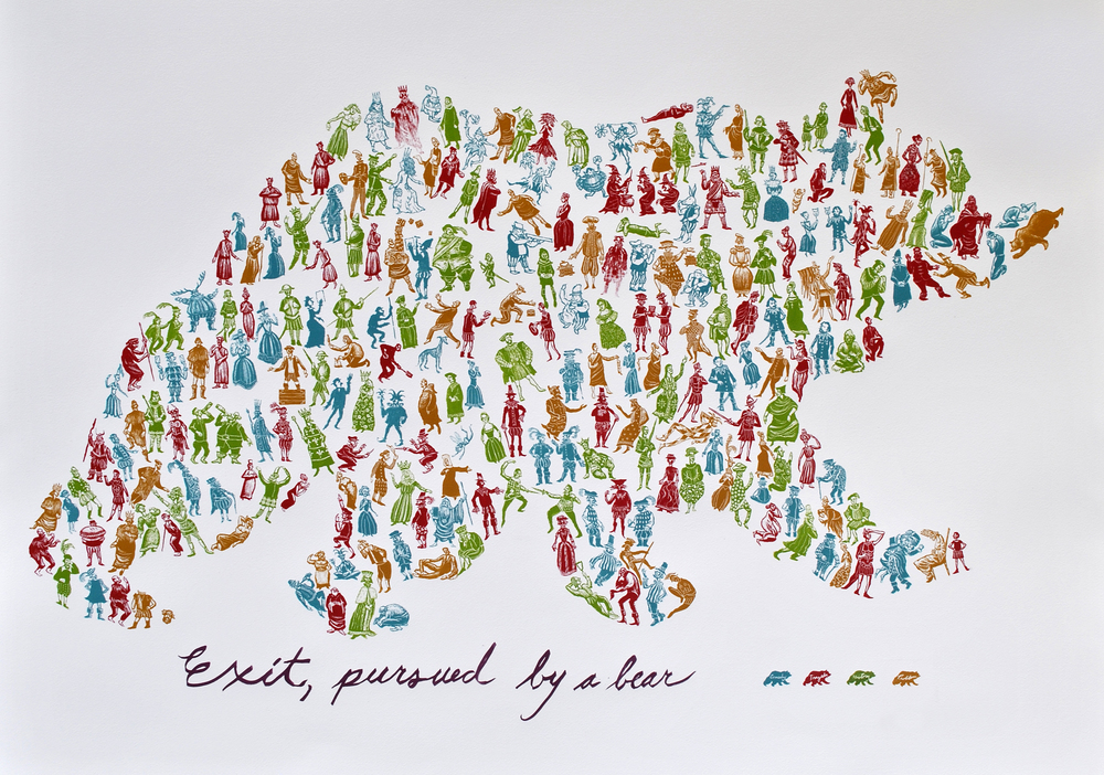 Exit, Pursued by a Bear 66 x 80 cm screenprint £940 (framed)