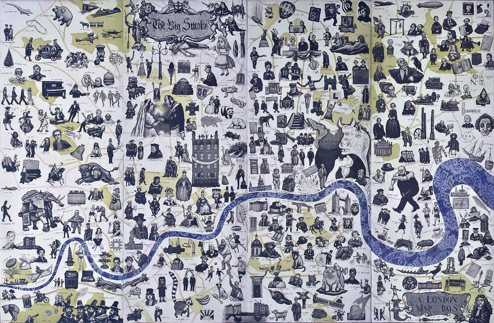 A London Map of Days 66 x 100 cm     etching £1050 (framed)