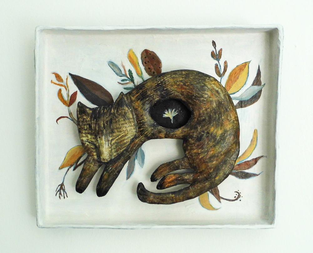 Cinnamon papier-mache 26 x 21 x 2.5 cm £180