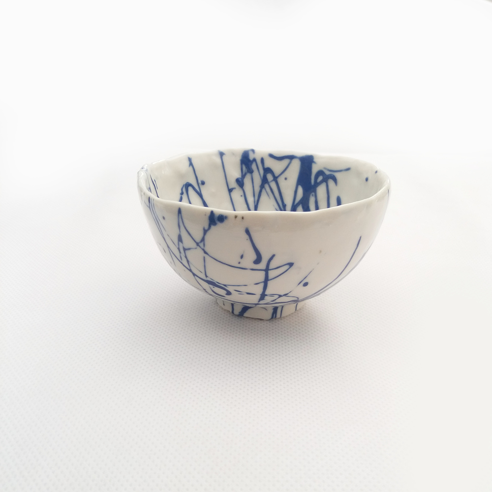 Small Blue Scribble Bowl  porcelain  £25