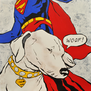 Lichtenstein's Dog oil on panel 80 x 80 cm £2600 (framed)