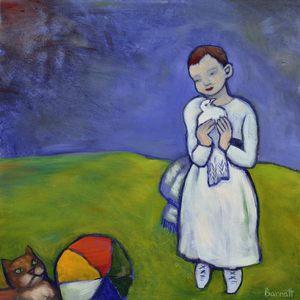 Picasso's Cat oil on panel 40 x 40 cm £1600 (framed)