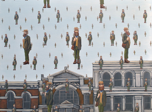 Shoreditch - After Magritte oil on panel 60 x 80 cm £2400 (framed)