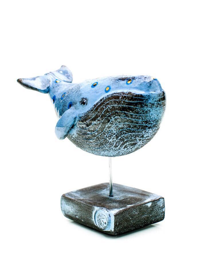 Gwen Vaughan Whale ceramic