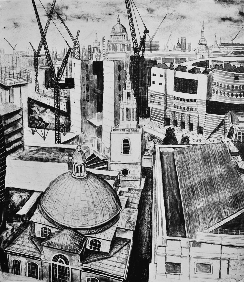London - A Work In Progress lithograph £450 (unframed)