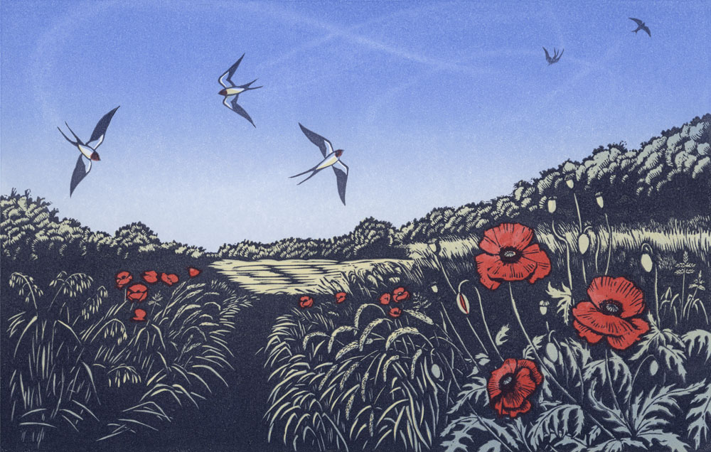 Niki Bowers High Summer linocut