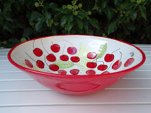 Cherries Red Large Bowl Ceramic £120