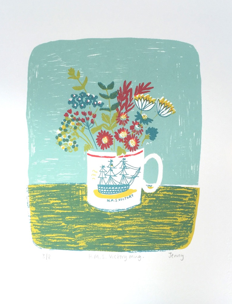 H.M.S Victory Mug screenprint £73