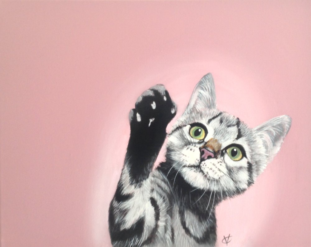 High Five acrylic on canvas 16 x 20 £260